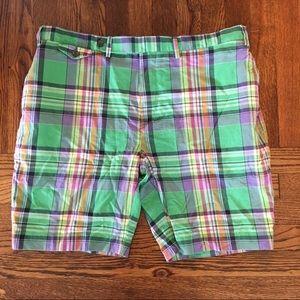 Polo by Ralph Lauren Green Plaid Cotton Shorts 38